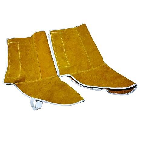 MagiDeal 1 Par Rodilleras de Soldadura de Pies Zapatos Protectores Usable Suave Protección Aislamiento de Calor