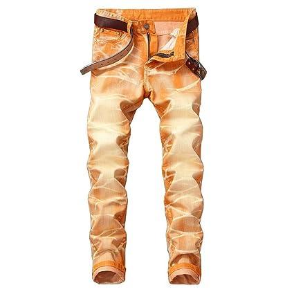 3c80951772 Hombre Ajustados Vaqueros Jeans Y Pitillo De Desgastados 5EZqqR