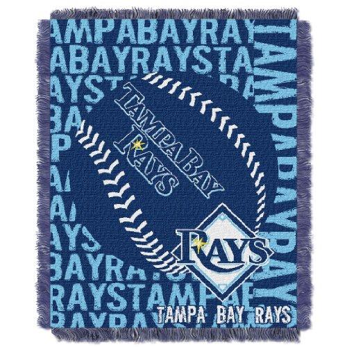 Rays OFFICIAL Major League Baseball, Double Play 46x 60 Triple Woven Jacquard Throw
