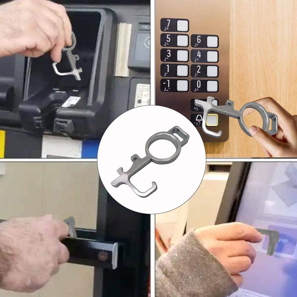 Hygienic Keychain for Doors Toilet ATM Hands Safe Sanmubo Trade Portable Non-Contact Acrylic Door Opener Door Closer Stylus Elevator Keychain Tool