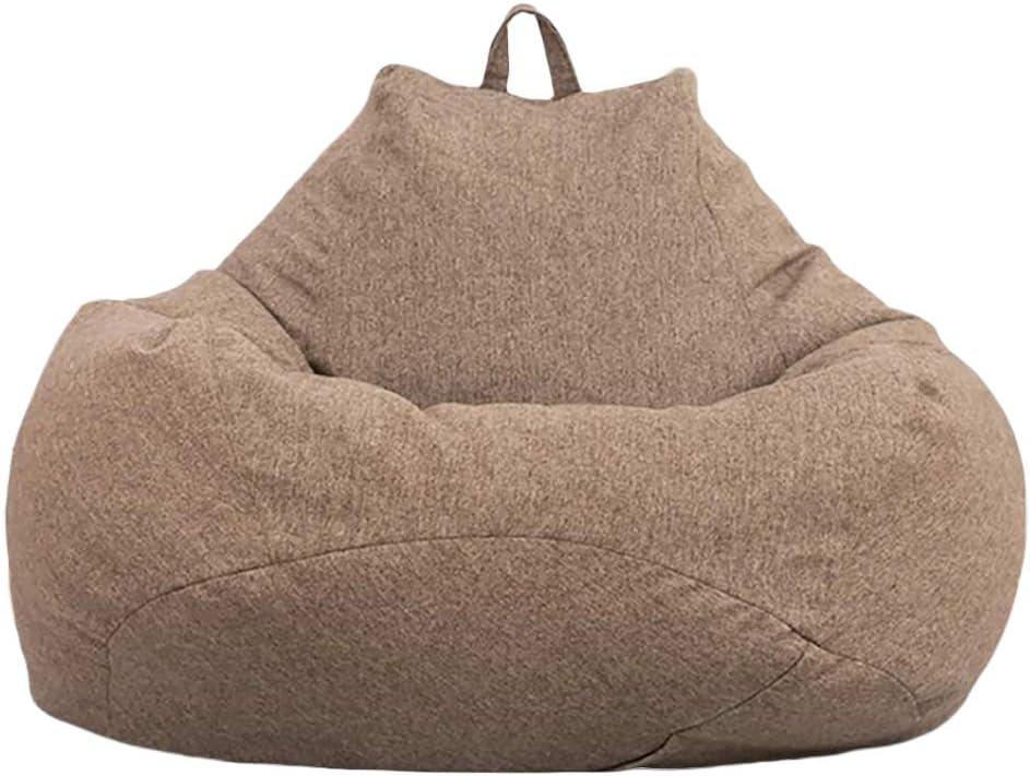 MAKTXL Grands fauteuils poires Pouf de Couleur Unie Housse de canap/é si/ège inclinable Chaise Longue ext/érieure et int/érieure pour Adultes et Enfants Non Garnis Gris s