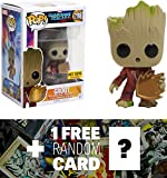Groot (Hot Topic Exclusive): Funko POP! Marvel x Guardians of the Galaxy 2 Vinyl Figure + 1 FREE Official Marvel Trading Card Bundle (12773)