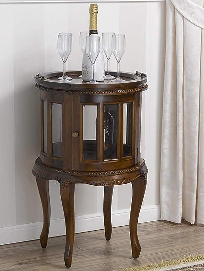 Tavolino Tondo Inglese.Simone Guarracino Tavolino Coloniale Tondo Vetrina Bar
