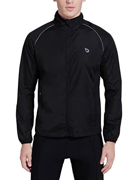 Baleaf Men's Cycling Running Jacket Windproof Windbreaker Breathable Coat