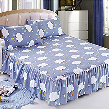 CXWK Bed Skirt Korean Bedspread Suite Single Bed Single Bed Hat Bedspread,Bed Skirt-1,1pc skirt 120X200CM