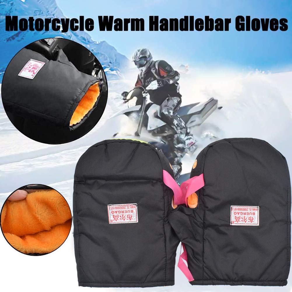 Nero Auto Elettriche Guanti da Moto Guardamani da Equitazione Invernali Guanto Antivento Inverno per Scooter BESTZY Guanti da Manubrio per Moto Moto
