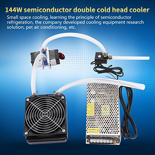 DIY 144W Dual-chip Thermoelectric Peltier Refrigeration TEC1-12706 Cooler with Water Cooling System (Cooler Kit) by Walfront (Image #7)