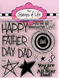 #9: The Stamps of Life All4Dads Clear Stamps for Card Making and Scrapbooking (4x4 inch sheet) by Stephanie Barnard - Fathers Day Stamp