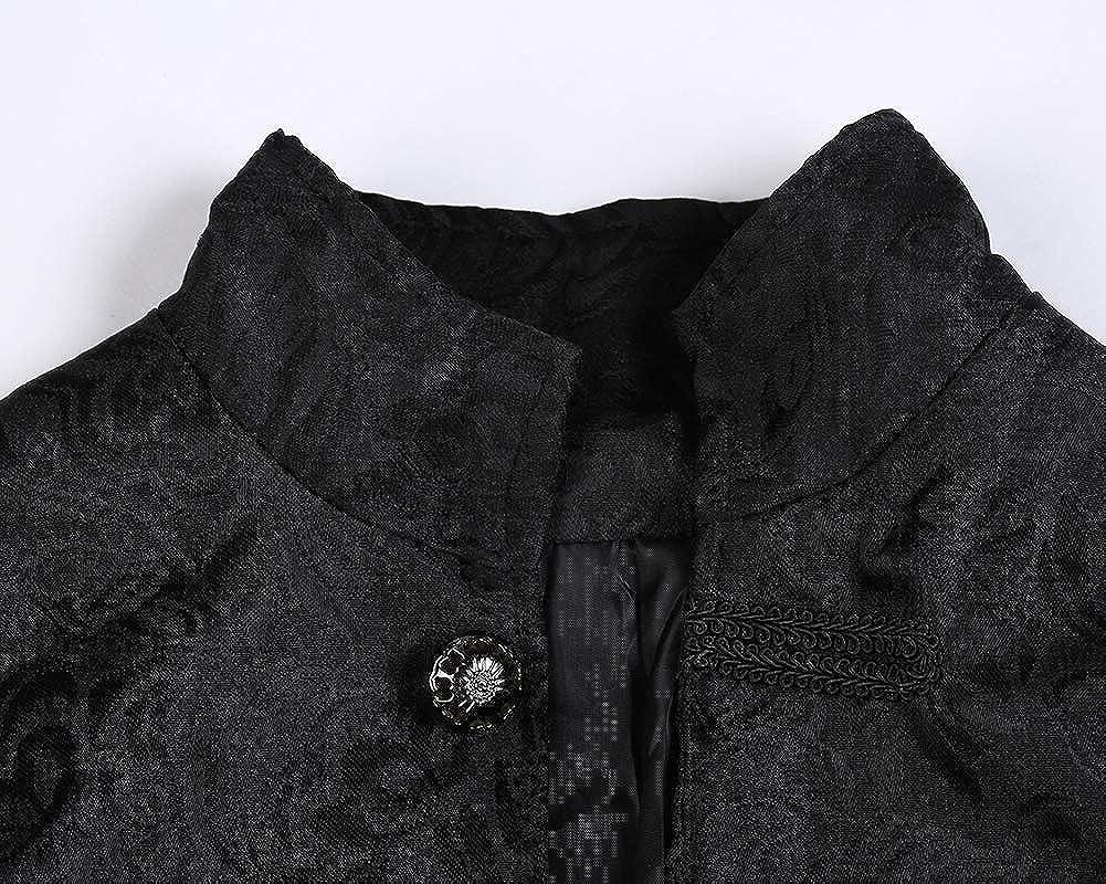 KasenA Uomo Giacca Medioevo Manica Lunga Cappotto Colletto Dritto Elegante Soprabito