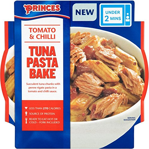 Princes - Tuna Pasta Bake - Tomato & Chilli - 210g (Case of 5) (The Best Tuna Pasta Bake)