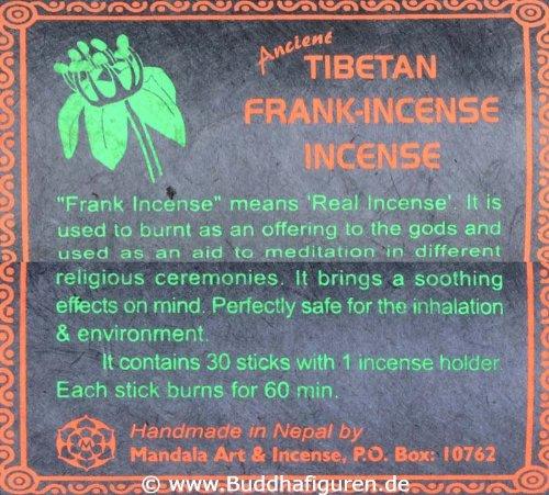 BUDDHAFIGUREN Bastoncini dincenso Tibetani Frank-Incense