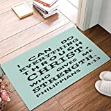 Swou Easter Doormat, Christian Bible Verse Indoor/Outdoor Non-slip Rubber Welcome Mats Floor Rug for Bathroom/Front Entryway