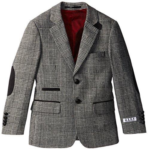 a.x.n.y Big Boys' Wool Plaid Blazer, Grey, 10