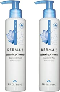 product image for Dermae Hydrating Cleanser (Pack of 2) With Hyaluronic Acid, Vitamin E, Lemon Grass, Vitamin A, Papaya and Vitamin B5, 6 oz.