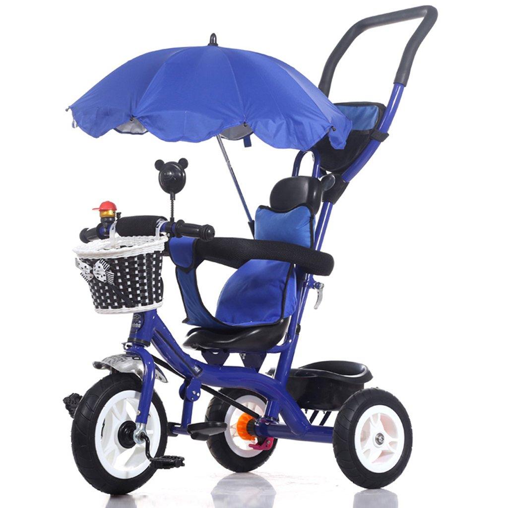 TLMY トロリー、赤ちゃん、乳母車、赤ちゃんの自転車 ベビー用トロリー (色 : 青)  青 B07GBMNG1P