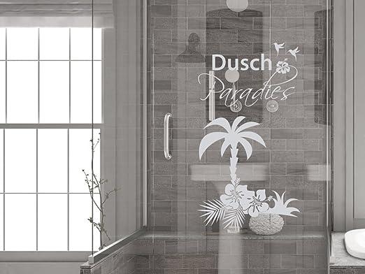 GRAZDesign 980188_50 Fenstertattoo Schriftzug Dusch Paradies mit ...