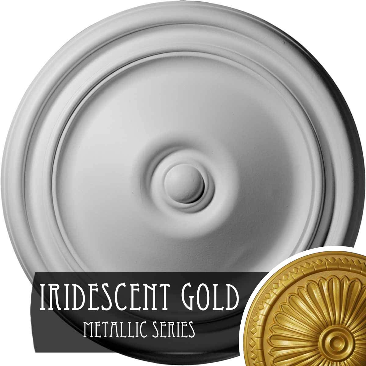 Ekena Millwork CM12REIGS Reece Ceiling Medallion, Iridescent Gold