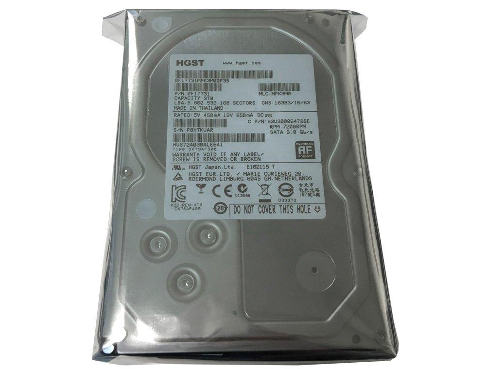 HGST Ultrastar 7K4000 (0F17731) 3TB 64MB Cache 7200RPM SATA III 6.0Gb/s 3.5in Heaty-Duty Internal Hard Drive for CCTV DVR, NAS, PC/MAC (Renewed)