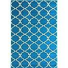 "Sweet Home Stores Clifton Collection Blue Moroccan Trellis Design (7'10""X9'10"") Area Rug"