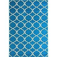 "Sweet Home Stores Clifton Collection Blue Moroccan Trellis Design (7'10""X9'10..."