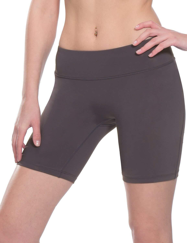 Baleaf Women's 7'' Active Fitness Yoga Running Shorts Pocket Grey Size L by Baleaf