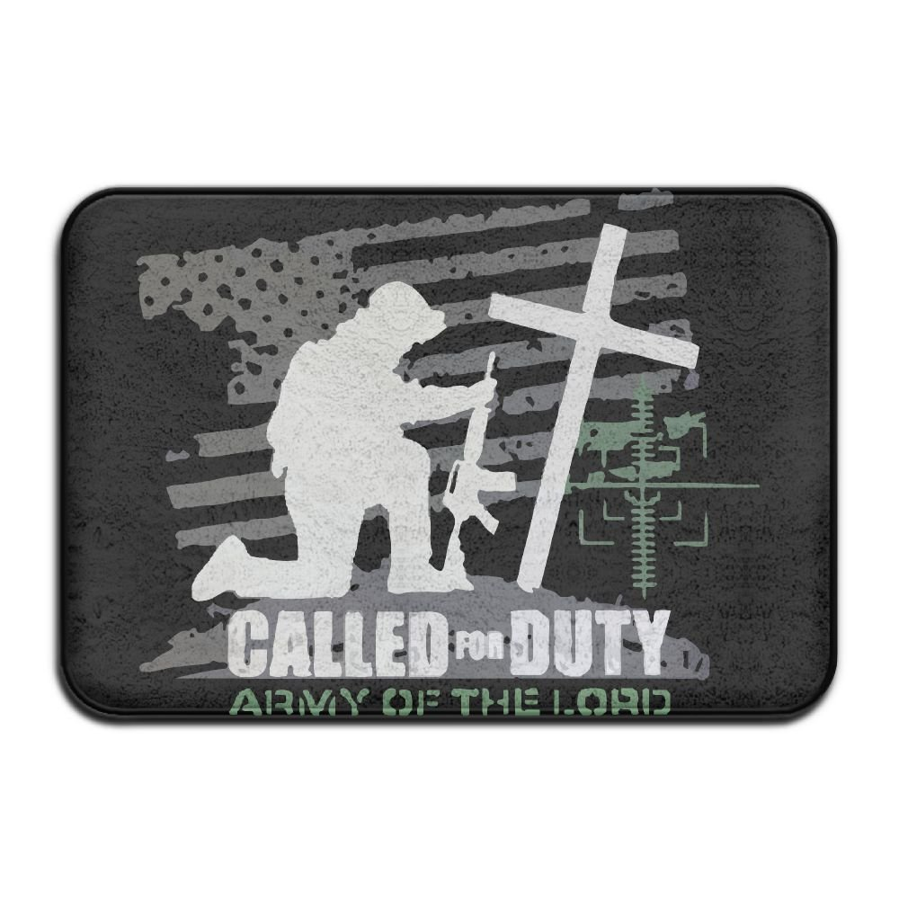 Christian Called For Duty Army Soldier Of The Lord Indoor Outdoor Entrance Rug Non Slip Standing Mat Doormat Rugs For Home