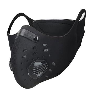 IDABAY Máscara de Deporte Antipolvo de Carbón Activado Transpirable Anticontaminación Filtración Gas de Escape para Ciclismo