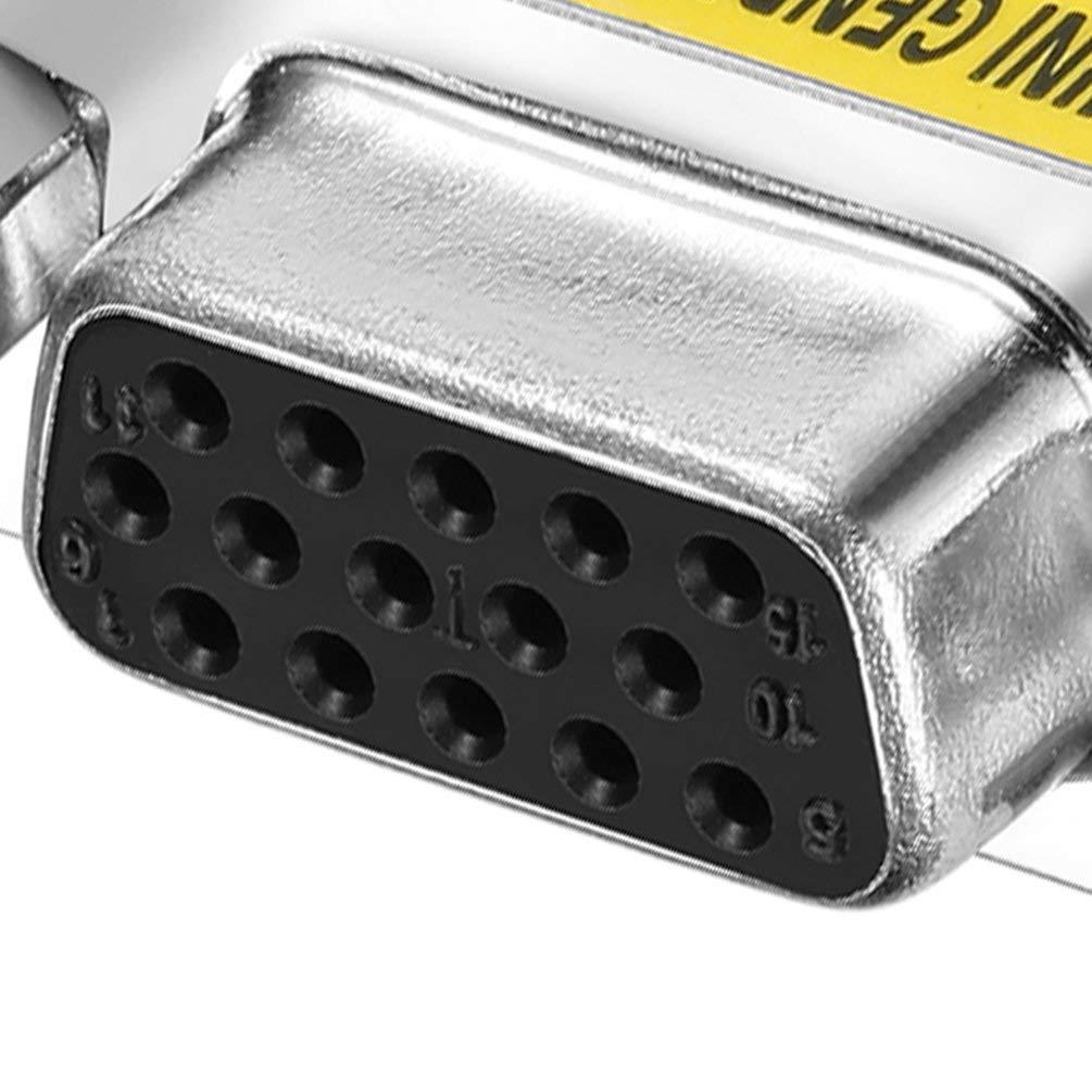 Nihlsen Design Professionnel Nouvelle Femelle /à Femelle VGA HD15 Adaptateur convertisseur de Genre changeur de Sexe en Stock Argent