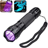 Garberiel UV Blacklight Flashlight Detector for Pet Urine and Stains Detector Tactical Scorpion Hunting with 18650 battery & USB Charging