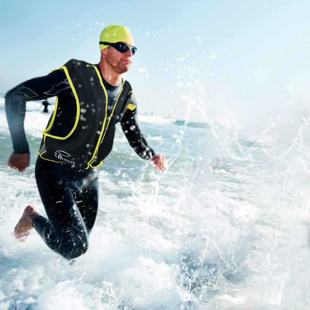 Rrtizanライフジャケット スノーケリングベスト 救命胴衣 (くろい) 大人用 インフレータブル 用 超浮力 シュノーケリング 膨張式 フローティングベスト