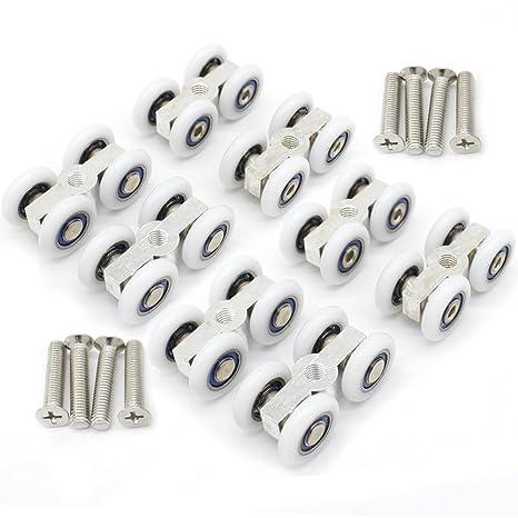 8pcs puerta corredera de cristal accesorios de ducha para colgar pequeño Polea Rueda para colgar convencionales
