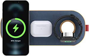 2021 Updated,Wireless Charger, 30W Qi-Certified Wireless Charging Pad,Slicecharge Pro 6-Coils Wireless Charging Mat, Compatible iPhone Xs 11/12/Max/XR/XS/X/8/8 Plus, Galaxy S10/S9/Note9(Blue)