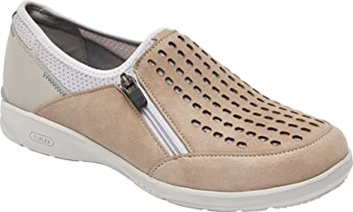Rockport Women's Truflex W Slip On Shoes, Size: 5 W, Color Sand Nubuck