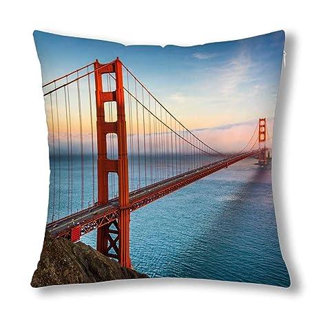 Kinhevao Vista del Atardecer del Puente Golden Gate en San ...