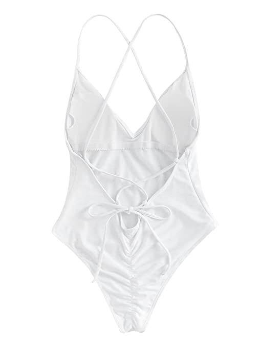 SOLYHUX Mujer Ropa de Baño Vestido de Playa Set Biquini una Pieza ...