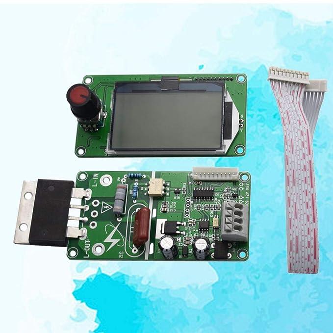 BESTOMZ Panel de Control de la Hora Actual Actual del Soldador Local del codificador Dual del Pulso Dual 100A del LCD: Amazon.es: Hogar