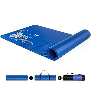 CAJOLG 10mm Esterilla Yoga Gruesa Colchoneta Gimnasia,Suave ...