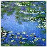 ArtPlaza TW92036 Monet Claude - Water Lilies Decorative Panel 15.5x15.5 Inch Multicolored