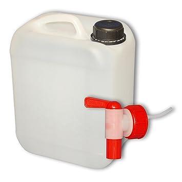 Hervorragend 5 Liter Kanister mit Auslaufhahn, Wasserkanister Wasserbehälter  EA09