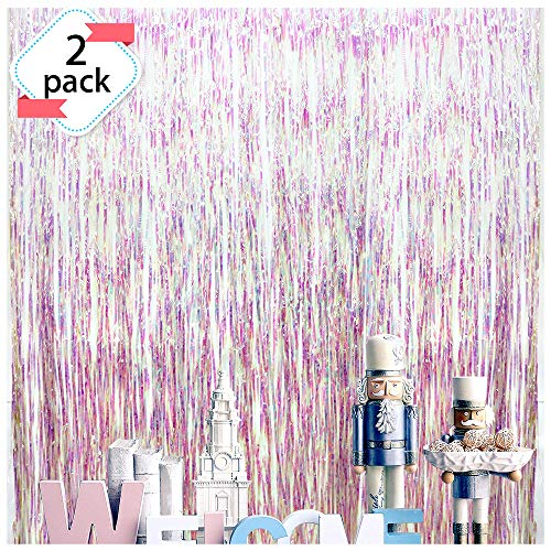 Pink Foil Fringe Curtains Irisescent Party Supplies Fun
