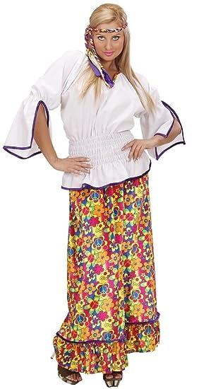 1260d2cdf66 Mega Jumble® VELVET HIPPIE WOMAN Woodstock Hippie - Adult Women Velvet  Hippie Shirt