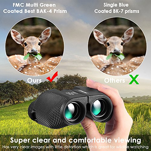 Birding Binoculars , Compact High Power 10X25 Kids Binoculars Mini Shockproof Lightweight Telescope For Bird Watching , Hiking , Hunting , Traveling and Sporting Games , Best Gifts for Kids / Adults by ZONAMA (Image #2)