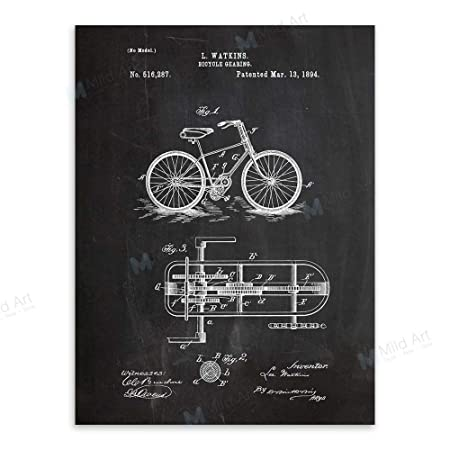baodanla (sin Marco) Pizarra Bicicleta Dibujo Sala Pared ...