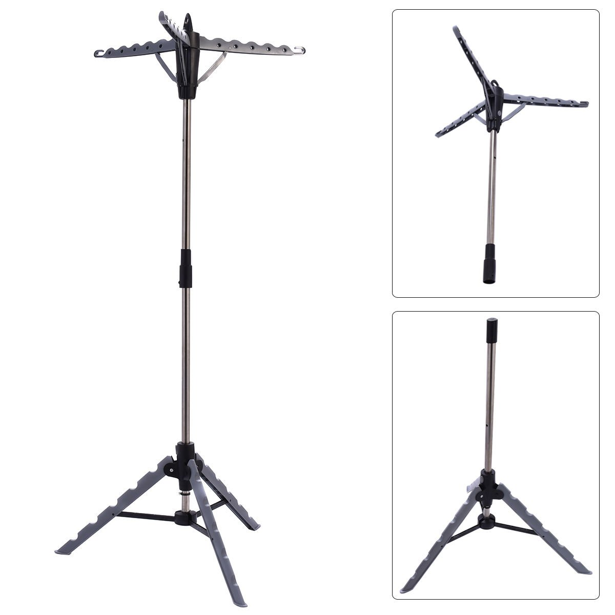 Clothes Hanger Drying Portable Multifunctional Retractable Laundry Racks Tripod by TF-Godung (Image #2)