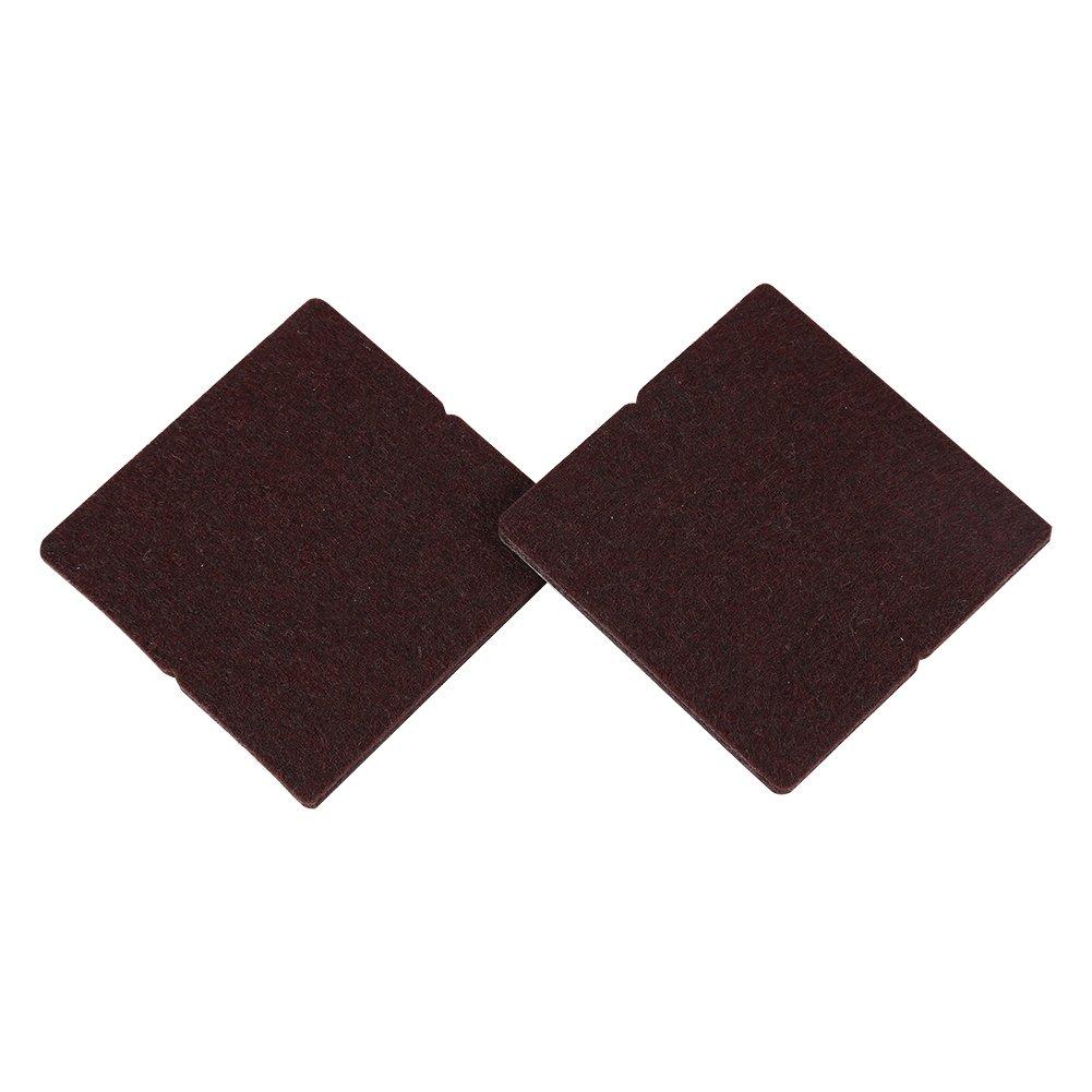 4 Unids premium muebles almohadillas, Resistente de fieltro para muebles pies, Almohadillas de fieltro adhesivas para proteger suelos(Beige) Zerodis