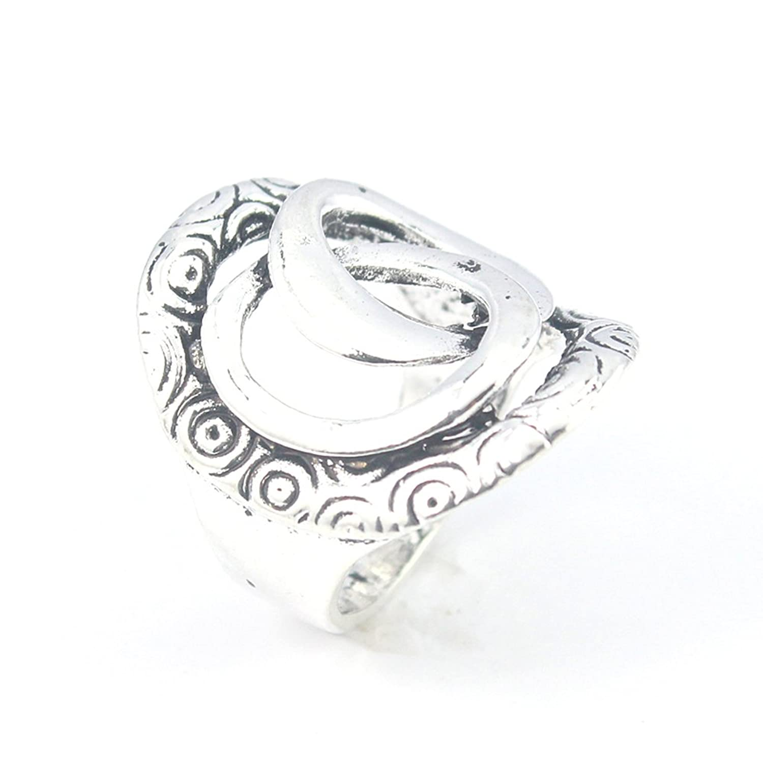 PLAIN FASHION JEWELRY .925 SILVER PLATED RING 8 S23625