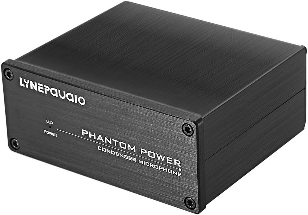 LYNQYGmixer de Audio Equipo de sintonía LINEPAUDIO A963 48V Pro Micrófono Condensador de alimentación Phantom Fuente (Negro) (Color : Black)
