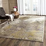Cheap Safavieh Monaco Collection MNC219S Modern Abstract Vintage Ivory and Grey Distressed Area Rug (8′ x 11′)