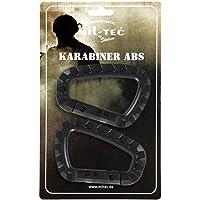 Mousqueton ABS (2pièces/emballage blister), noir, 8,3 cm