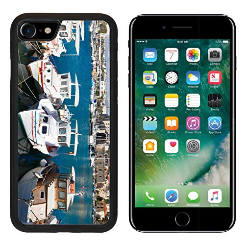 MSD iPhone 7 Case and iPhone 8 Case Protective Silicone Bumper Shockproof Anti-Scratch Resistant Hard Cover IMAGE 29776964 Heraklion old venetian harbour with colorful boats Crete Greece